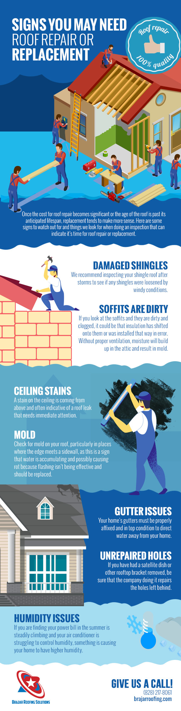 Signs You May Need Roof Repair or Replacement [infographic]