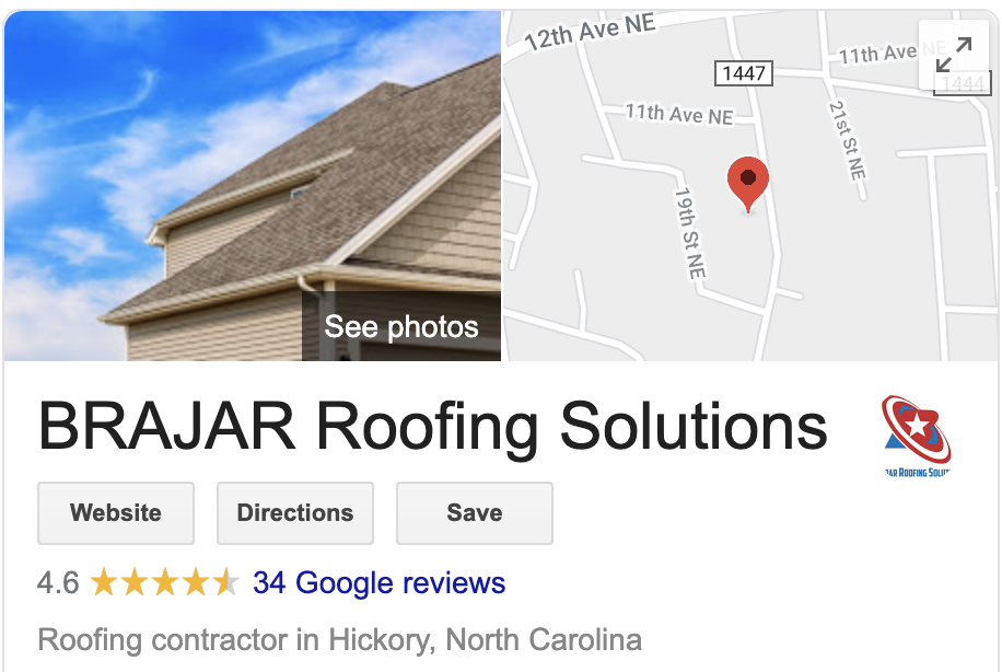 Google My Business - Brajar Roofing Solutions Company